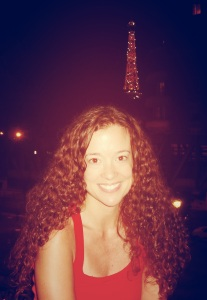 Me, My Hair, and the Eiffel Tower.