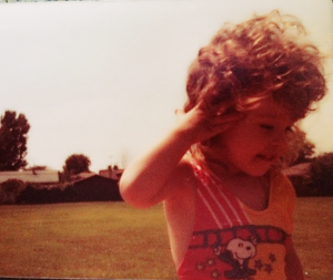 Uncontrollable curls from the very beginning.