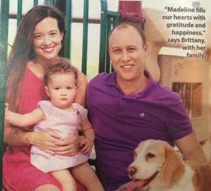 Our family photo in a recent edition of Woman's World Magazine.